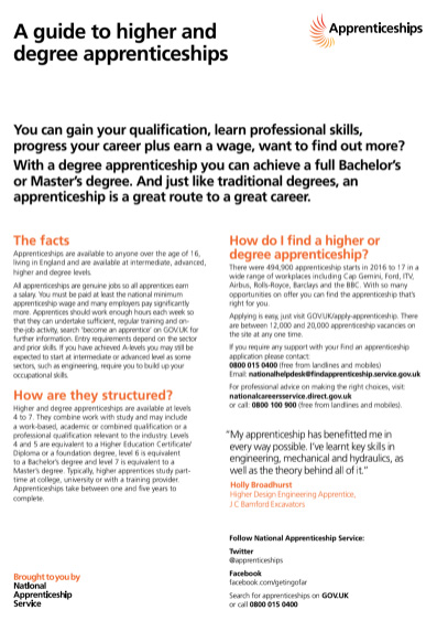 A Guide To Higher And Degree Apprenticeships