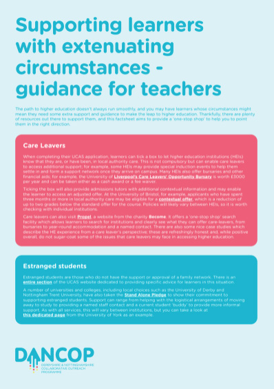 Learners with extenuating circumstances
