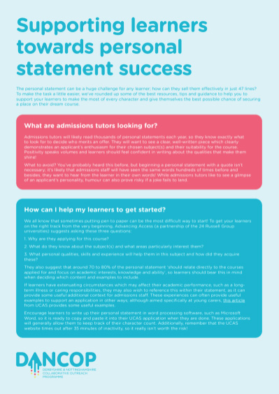 Personal Statement Success