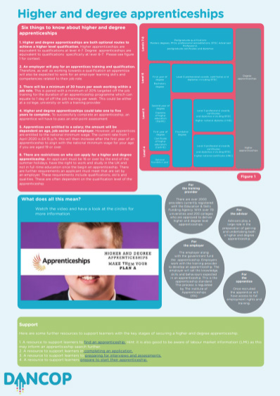 Higher and Degree Apprenticeships